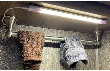Touch Dimmable LED Light Strip & Towel Rack