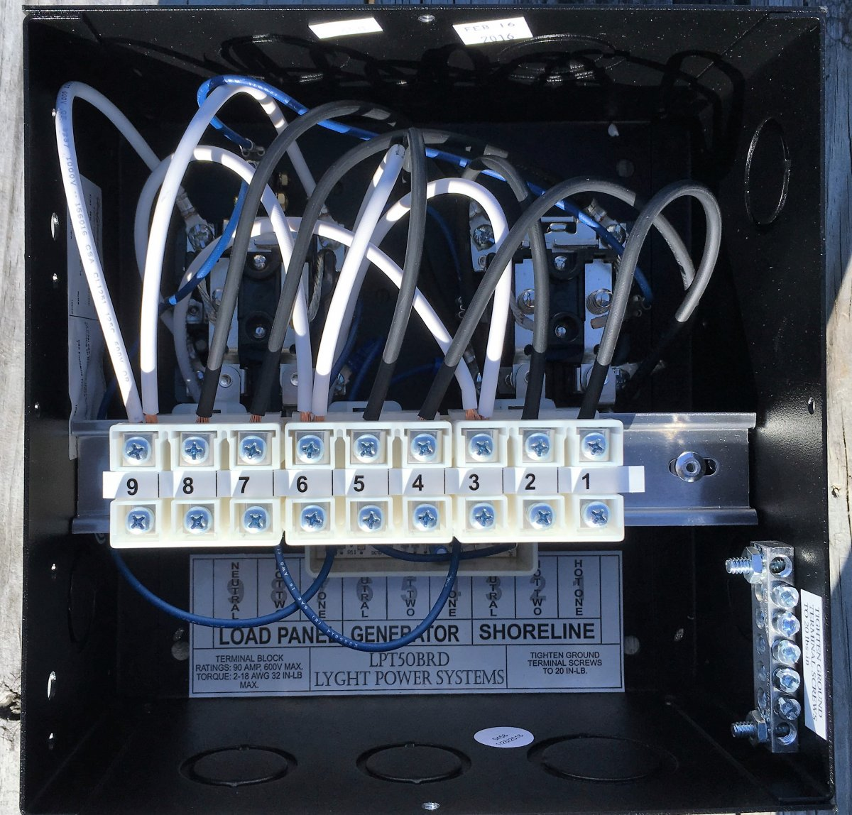ESCO Transfer Switch Connections