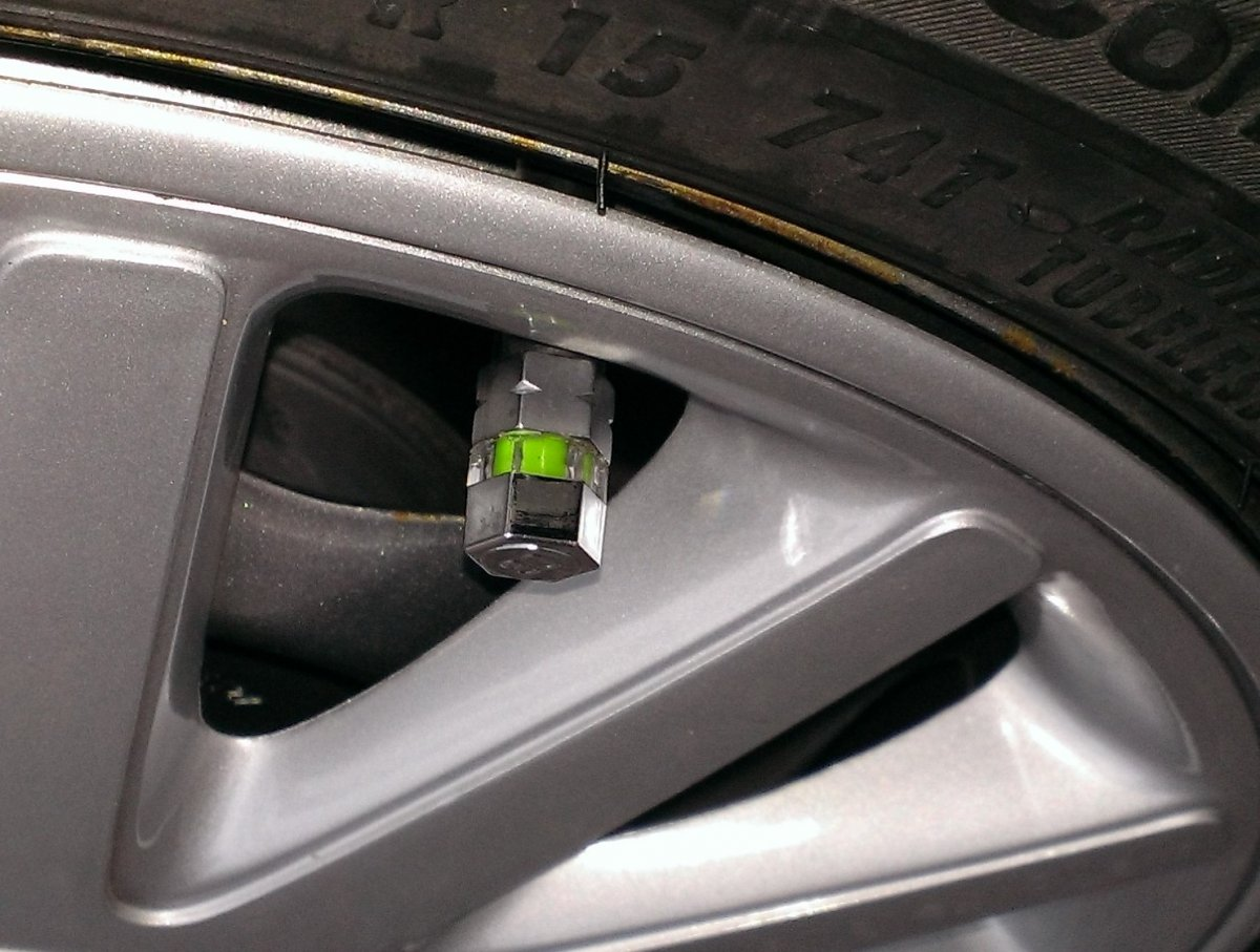 Tire Pressure Monitor Cap Installed
