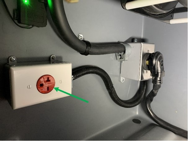 Added 30Amp 240VAC Outlet