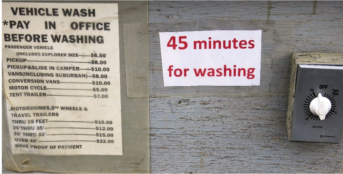 Wash charges