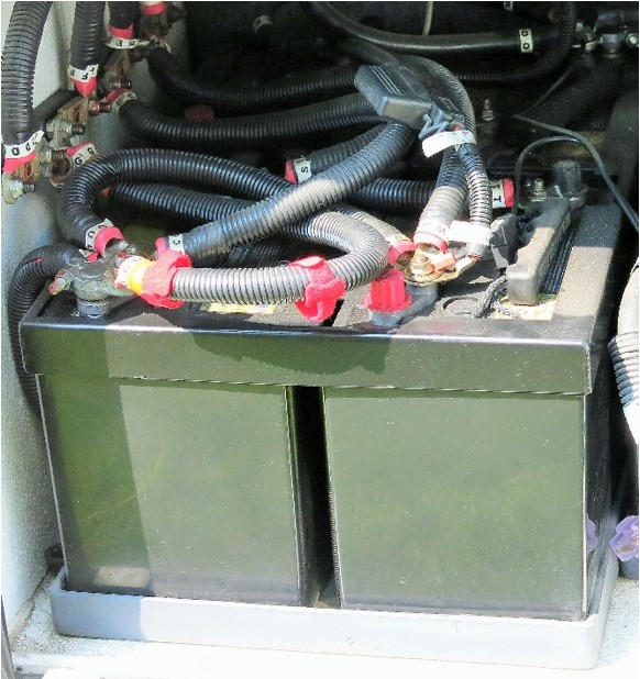 AGM Installed in RV as Coach battery pack