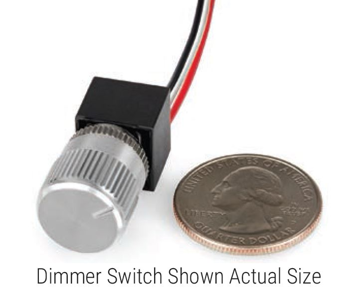 Size of PCA Dimmer