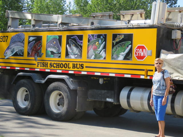 The 'School Bus' which takes hatched fish to the river for release