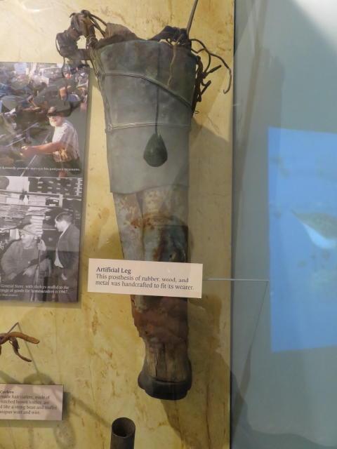 A crude artificial leg