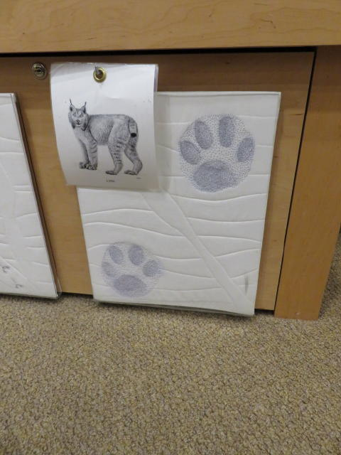 Quilted Paw Prints of a Lynx