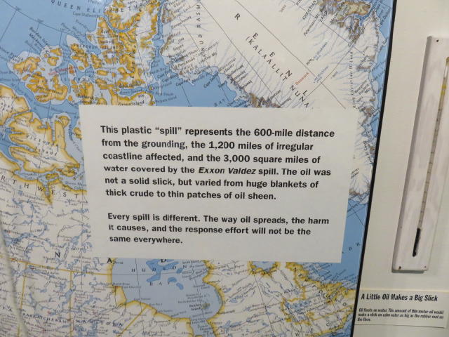 The Exxon Valdez oil spill size and effect on surrounding ocean life