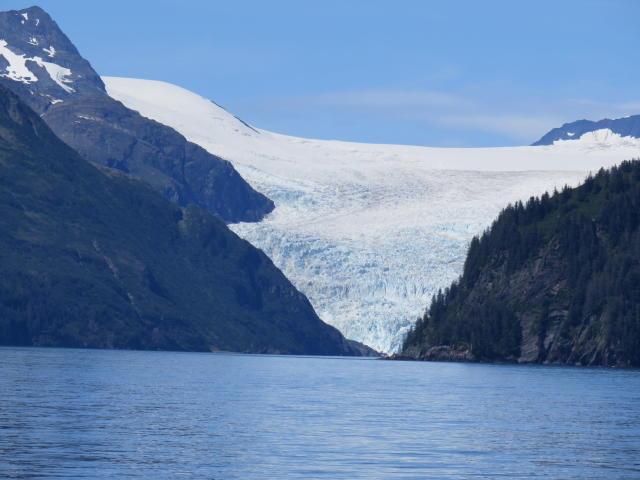 A Glacier touching the sea