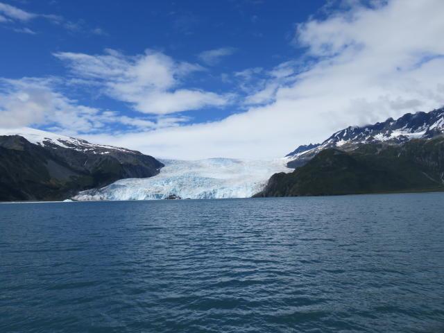 This Glacier actually flows into the sea