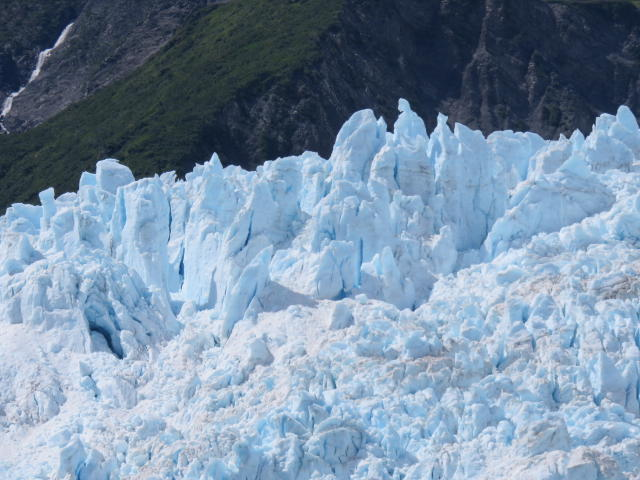 Glacial ice in the ocean