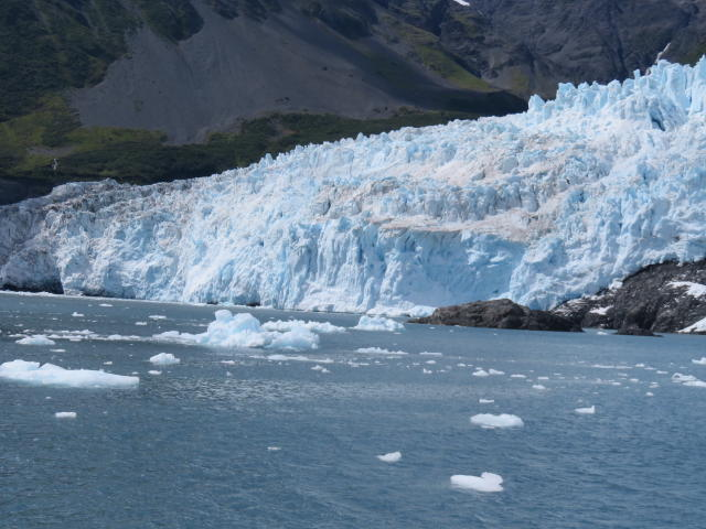 Ice floes that float away when the Glacier'calves'