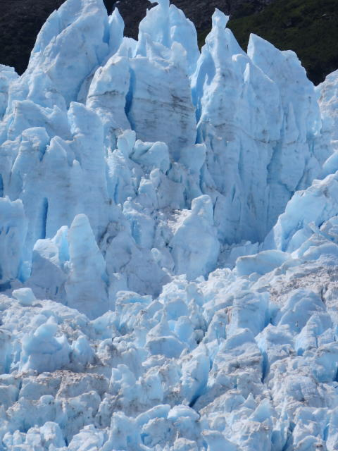 We saw this Glacier 'calve' or break away and fall into the sea