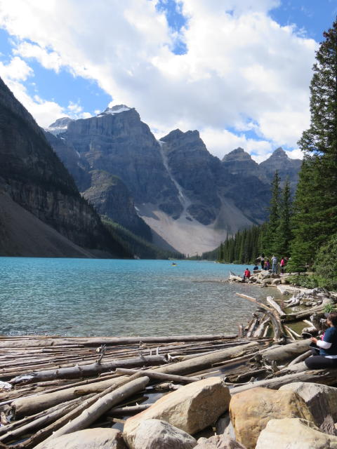Moraine Lake is even more blue