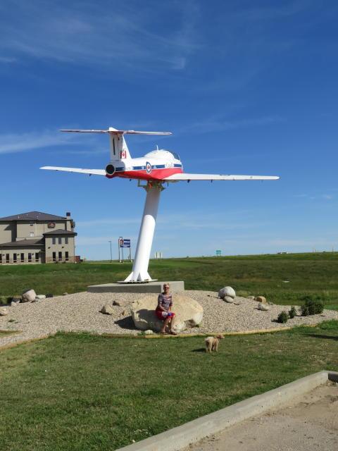 A Canadian Snowbird plane on display