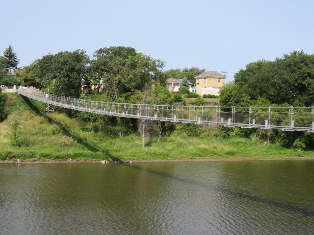 The Souris Swinging Bridge