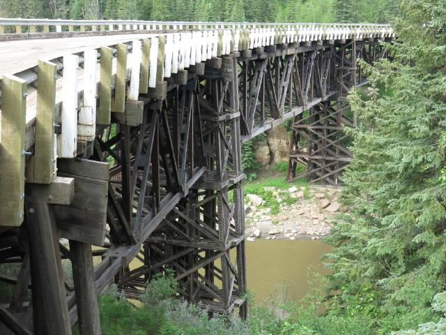 An original wooden bridge