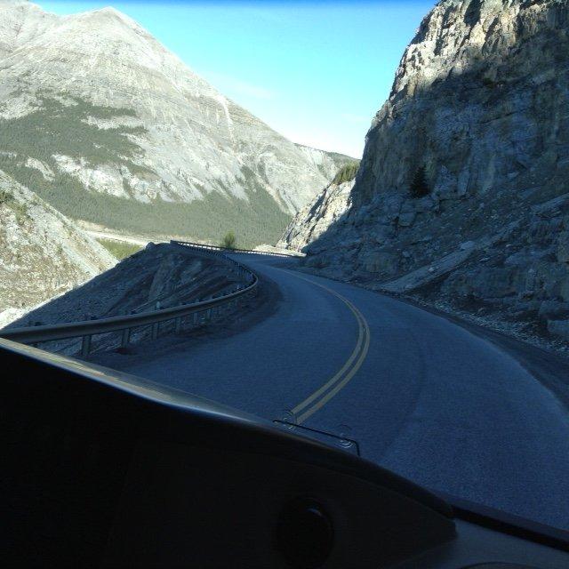Glacier Topped Mountains
