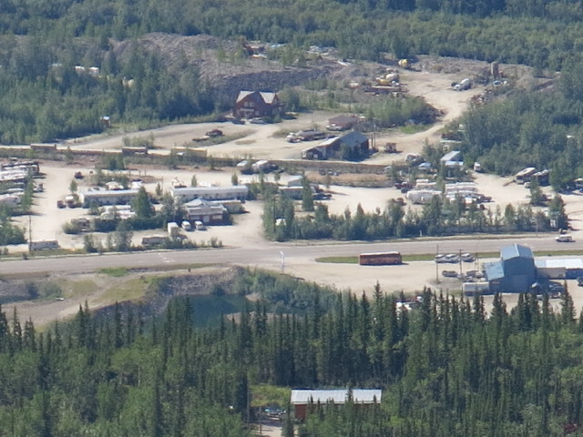 Our Dawson City campground from Dome Mountain