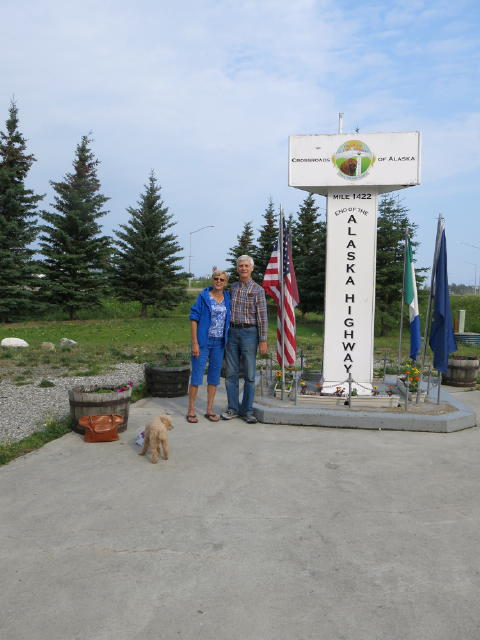 We reached the end of the Alaskan Highway in Delta Junction, AK